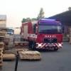 Požár průmyslového objektu na Července