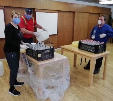 Příprava a rozvoz dezinfekce